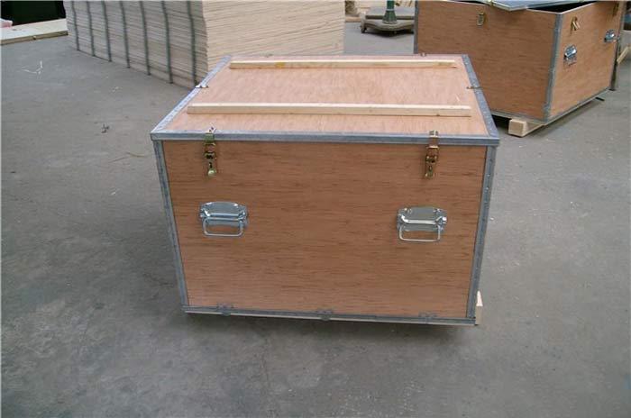 带弹簧搭扣钢边箱