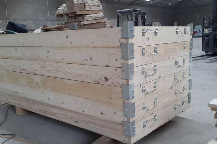 可分层木箱包装